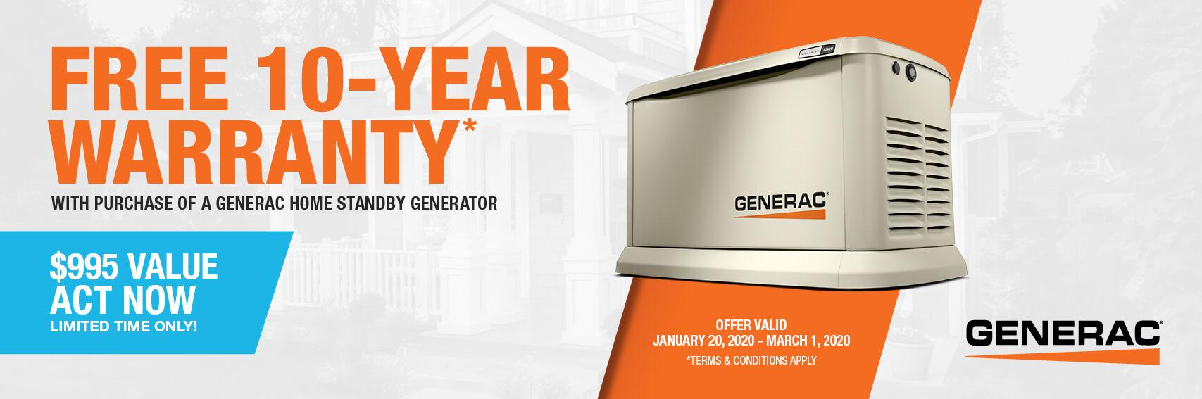Homestandby Generator Deal | Warranty Offer | Generac Dealer | Indianapolis, IN